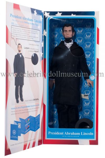 Abraham Lincoln Toy President doll box inside