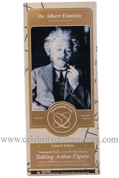 Albert Einstein talking doll box front
