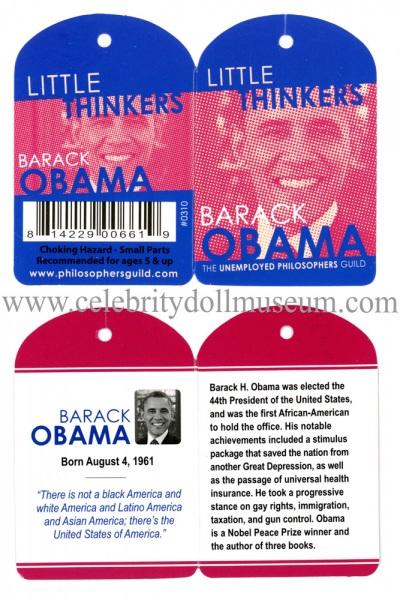 Barack Obama plush doll tags