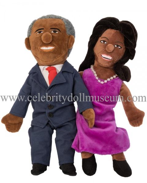 Barack and Michelle Obama plush dolls