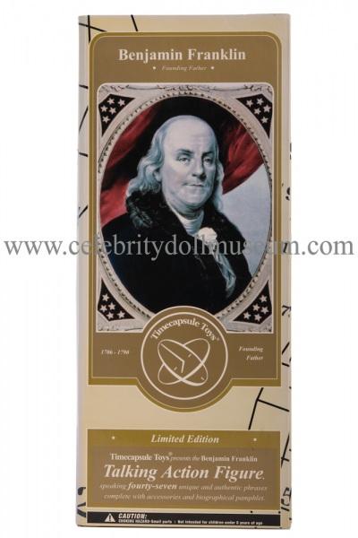Benjamin Franklin talking doll box