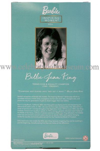 Billie Jean King doll box back