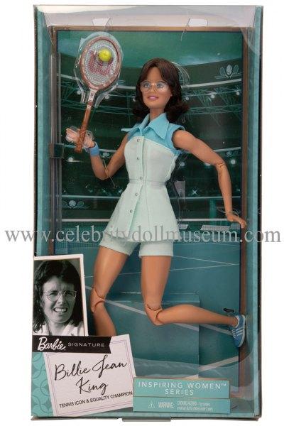 Billie Jean King doll box front