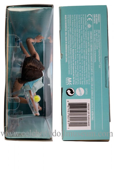 Billie Jean King doll box top and bottom