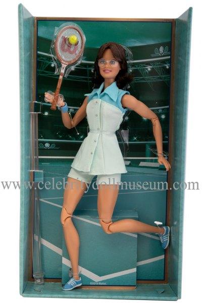 Billie Jean King doll box insert