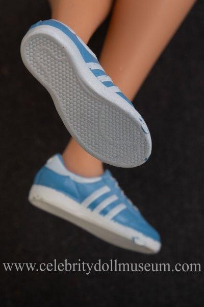 Billie Jean King doll shoes