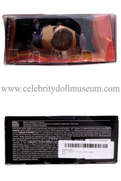Chris Pratt (Jurassic World) action figure box top and bottom