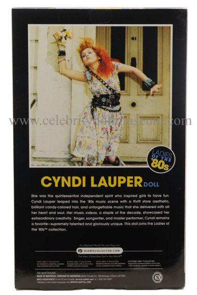 Cyndi Lauper doll box back