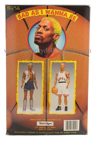 Dennis Rodman doll box back