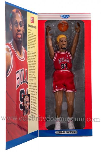 Dennis Rodman Action Figure box inside flap