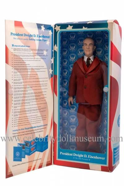 Dwight D Eisenhower Talking doll box inside panel