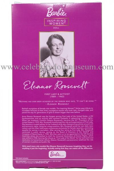 Eleanor Roosevelt doll box back