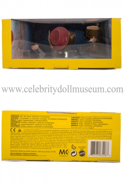 Emily Blunt doll box top and bottom