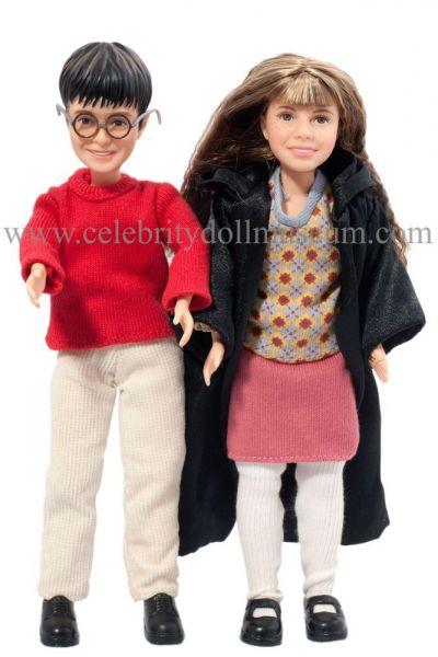 Danie lRadcliffe and Emma Watson dolls
