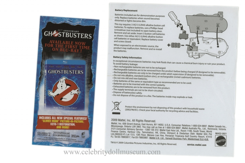 Ernie Hudson doll battery pack instuctions