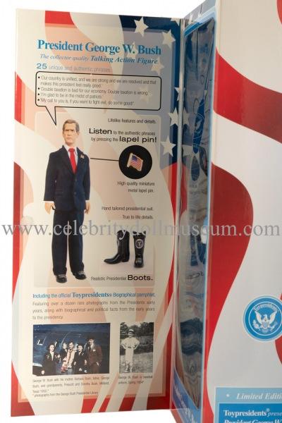 George W. Bush talking doll box flap