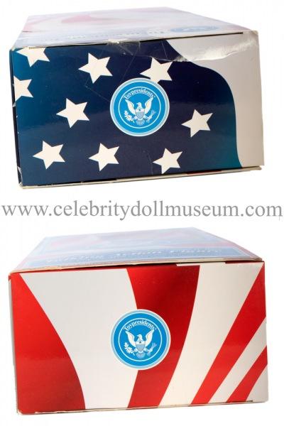George W. Bush talking doll box top and bottom