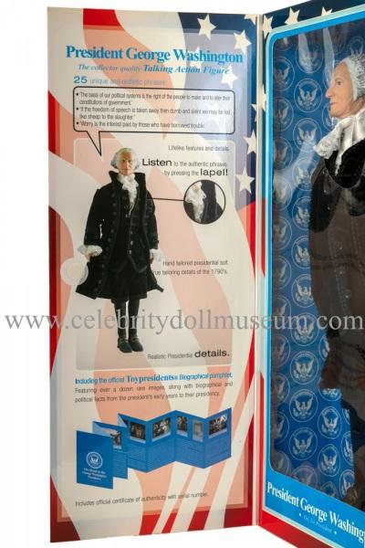 George Washington talking doll box flap