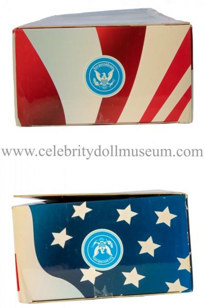 George Washington talking doll box top and bottom