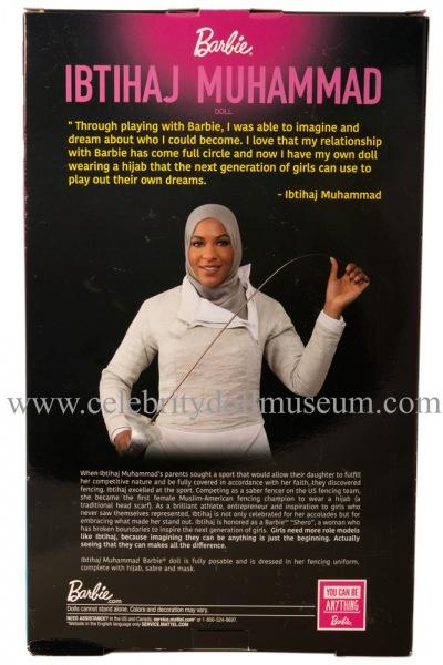 Ibtihaj Muhammad doll box back