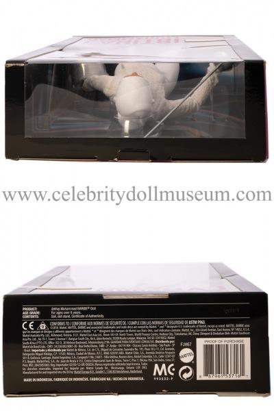 Ibtihaj Muhammad doll box top and bottom