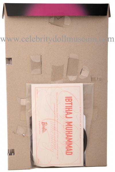 Ibtihaj Muhammad doll box insert back