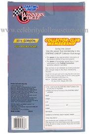 Jeff Gordon doll box back
