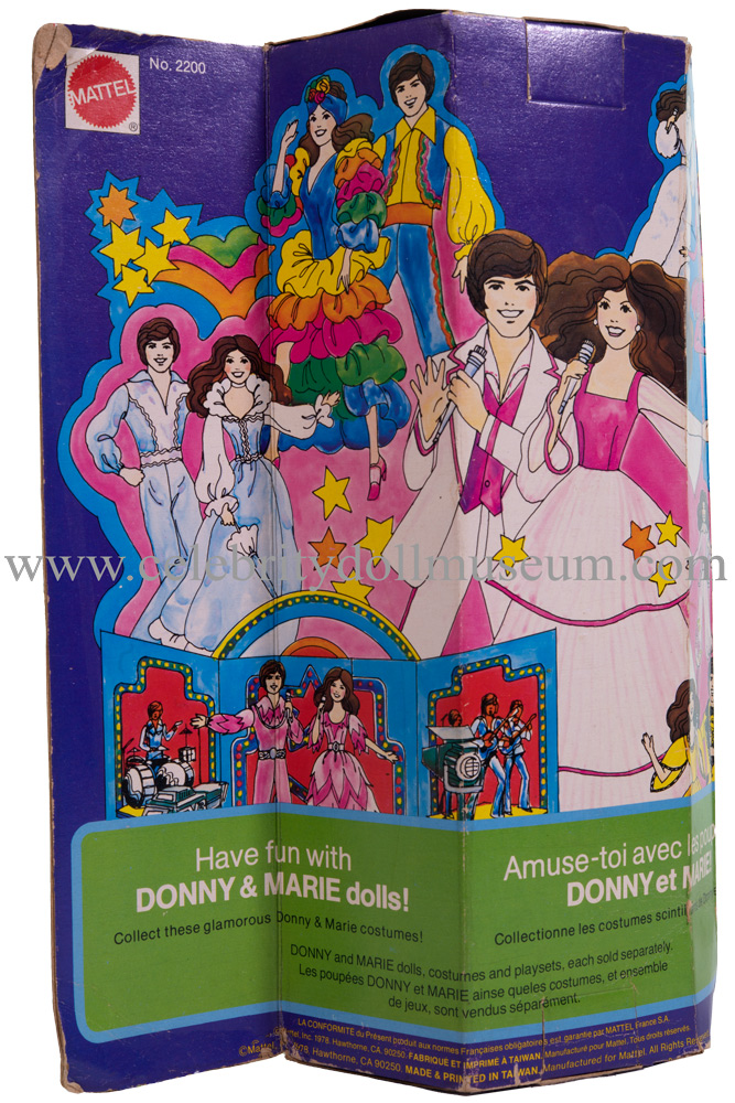 Jimmy Osmond doll box back
