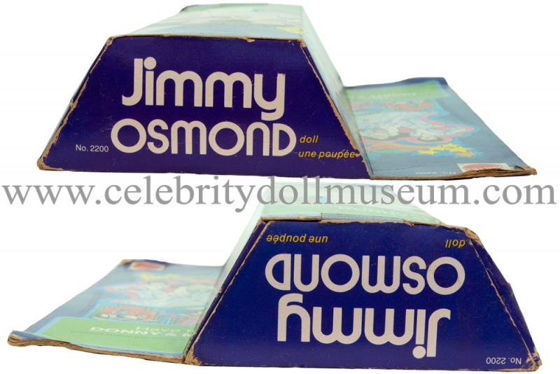 Jimmy Osmond doll box top and bottom