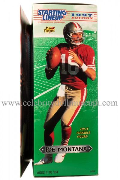Joe Montana Action Figure box side