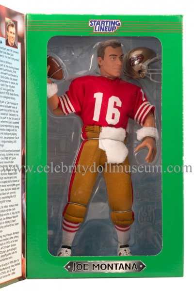Joe Montana Action Figure box inside window