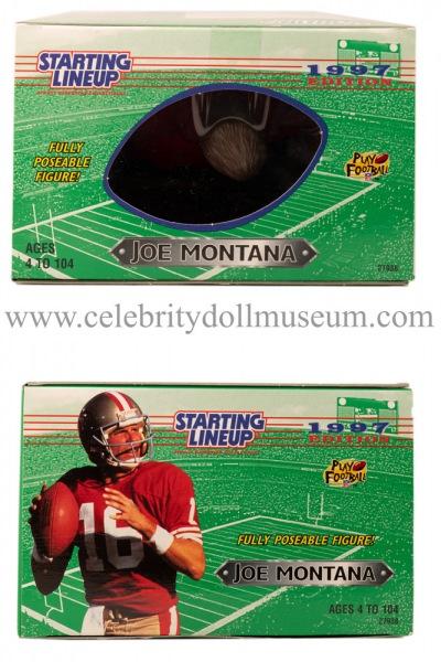 Joe Montana Action Figure box top and bottom