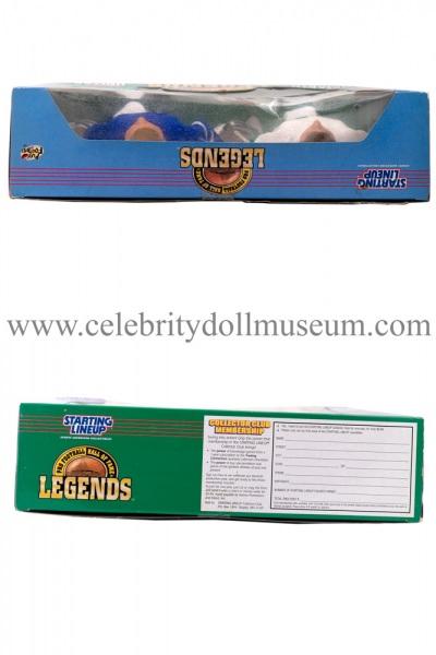 Joe Namath and Johnny Unitas Action figure set box top and bottom