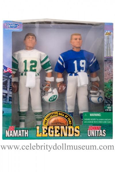 Joe Namath and Johnny Unitas Action figure set box front