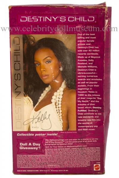 Kelly Rowland doll  beat up box back