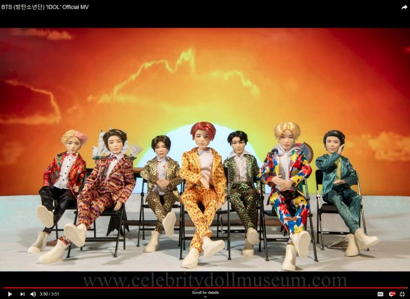 BTS as dolls in IDOL video