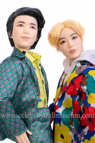 Jin and RM BTS dolls