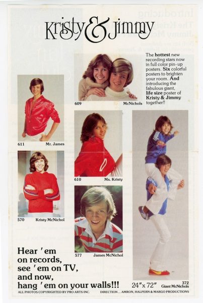Kristy and Jimmy McNichol Fan Club Brochure front