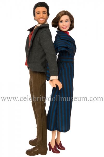 Lin-Manuel Miranda and Emily Blunt dolls