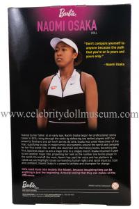 Naomi Osaka doll box back