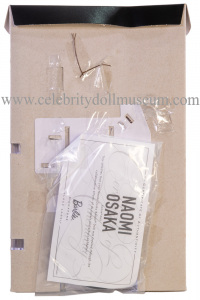 Naomi Osaka doll box insert back