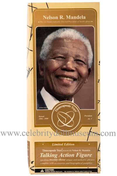 Nelson Mandela talking doll box front