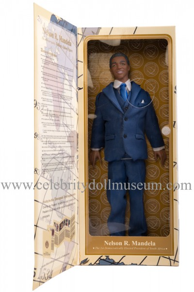 Nelson Mandela talking doll box inside