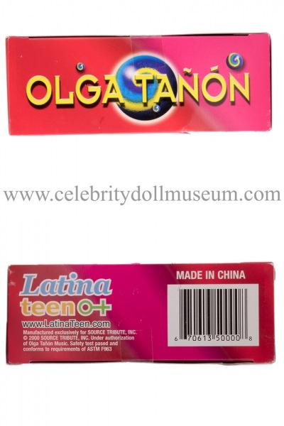 Olga Tañón doll box top and bottom