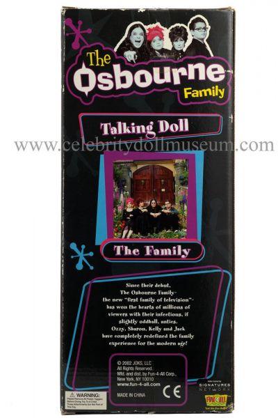 Ozzy Osbourne talking doll box back