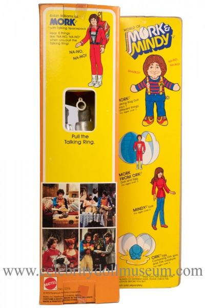 Robin Williams doll box back