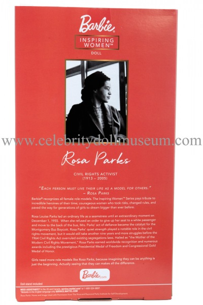 Rosa Parks doll box back