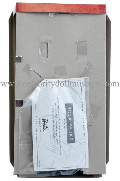 Rosa Parks doll box insert back