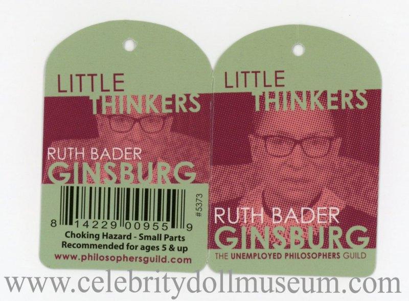 Ruth Bader Ginsburg doll tag