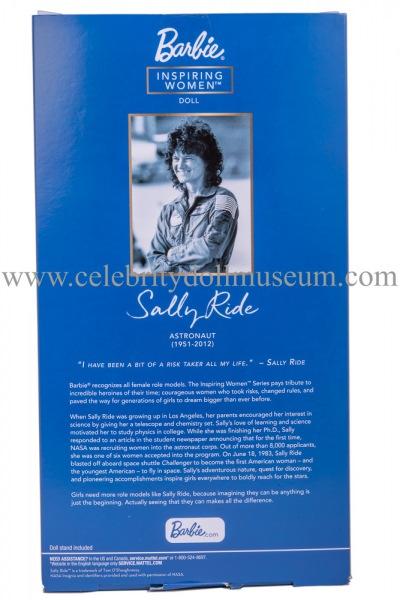 Sally Ride doll box back